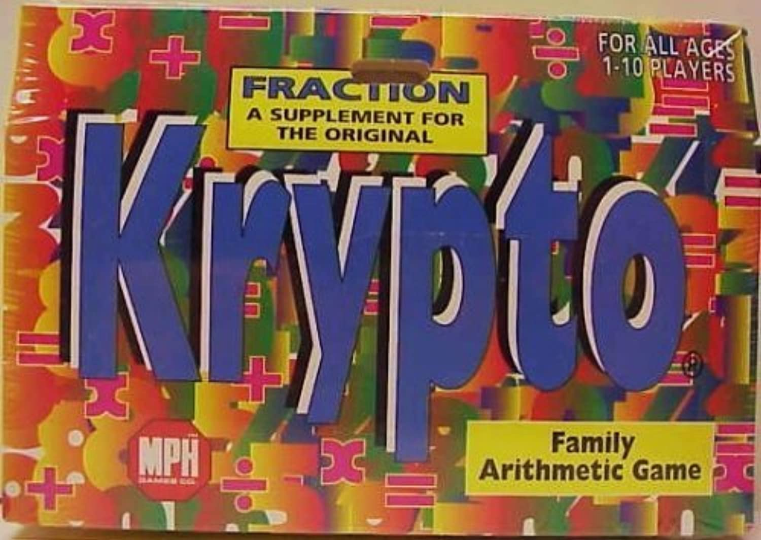 Krypto Fraction Supplement to Original Krypto Card Deck by MPH Games