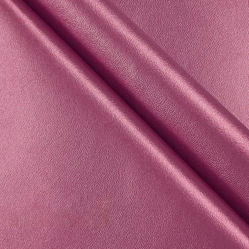 ZXC 138 cm de Ancho Venta De Polipiel por Metros Tejido De Piel SintéTica por Tapizar,Polipiel,Manualidades,Vinilo,Cojines o Forrar Objetos 1m Vendido por Metro(Color:Polvo de Perla)