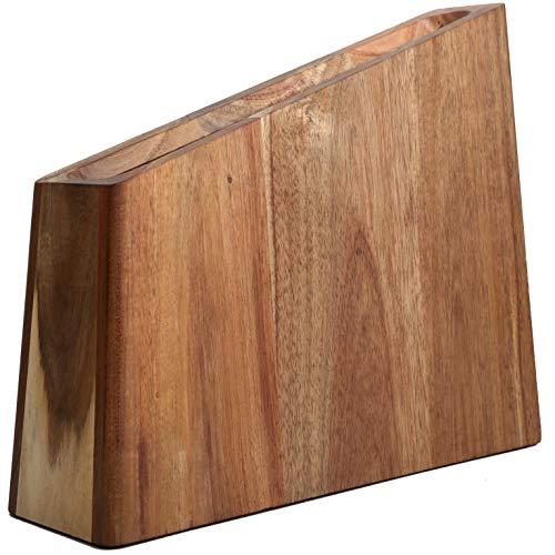 Resafy Magnetic Knife Wooden Block Holder Rack Magnetic Stands with Strong Enhanced Magnets Kinves Strip