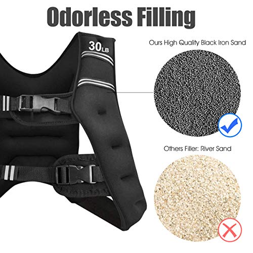 Product Image 1: Goplus Weighted Vest, 12 lb/16lb/20lb/30lb Weight Vest Workout Equipment, for Men Women Kids, with Adjustable Buckles & Mesh Bag for Fitness Running (30 LBS)