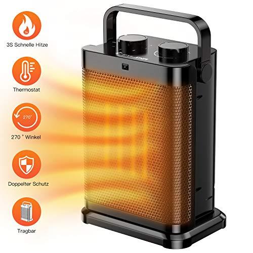 FYLINA USB Ventilator Mini Tischventilator 360°Drehbar Desktop Lüfterr 3 Geschwindigkeiten,für Schlafzimmer Büro zu Hause Schule Camping*