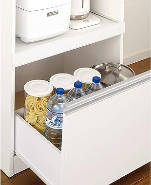 家具 収納 キッチン収納 食器棚 レンジ台 レンジラック キッチンラック 組立不要 幅と高さが選べる家電収納庫 ミドルタイプ 幅45cm・奥行45cm 569907