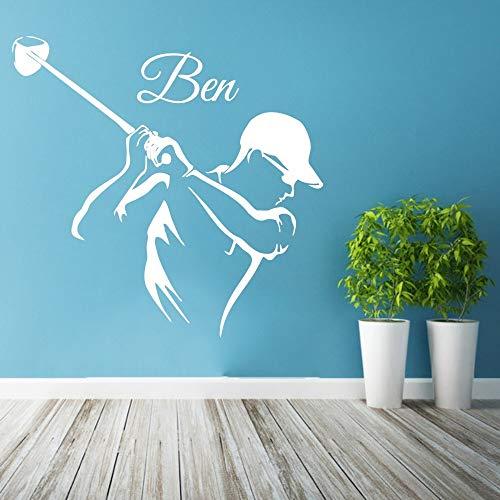 Tianpengyuanshuai muurstickers, golfsport, personaliseerbaar, vinyl, voor kinderkamer, decoratie, afneembaar, zelfklevend