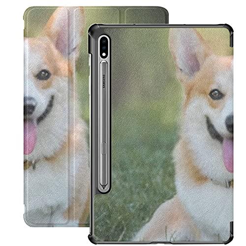 Funda para Galaxy Tab S7 Funda Delgada y Ligera con Soporte para Tableta Samsung Galaxy Tab S7 de 11 Pulgadas Sm-t870 Sm-t875 Sm-t878 2020 Release,Welsh Corgi Pembroke Dog Sitting On