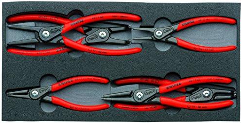 KNIPEX Tools 002001V02 Sicherungsringzangen-Set in Schaumstoffschale, 6-teilig