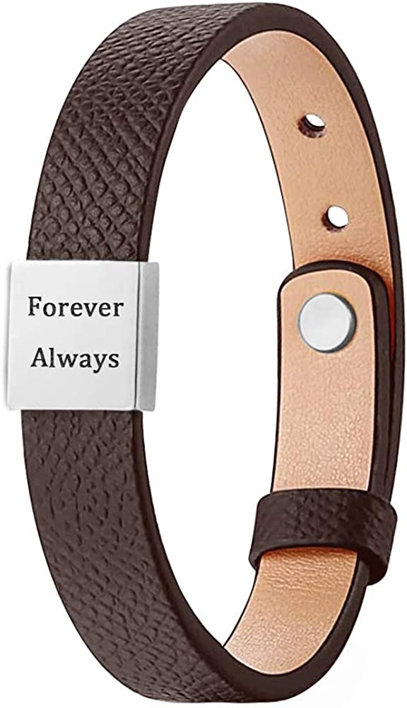 Recommendation Yopicks Personalized Leather Bracelet for Engraved Names ID Men Super beauty product restock quality top!