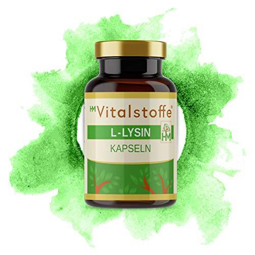 L-Lysin | Hochdosiert | Hohe Bioverfügbarkeit: L-Lysinhydrochlorid | Wichtige und essentielle Aminosäure | 90 Kapseln = 57 g | Für Muskelaufbau & Fettverbrennung