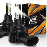 AUXIRACER Auto Lighting HB4 9006 LED Bombillas para Faros Delanteros 12000LM 6500K 60W Luz LED para Coche, Faros Delanteros y Faros Antiniebla IP65 a Prueba de Agua (2 PCS)