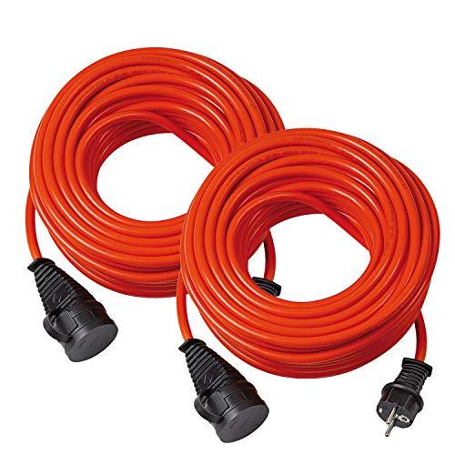 Brennenstuhl Bremaxx Verlängerungskabel (10m Kabel, für den Einsatz im Außenbereich IP44, einsetzbar bis -35°C, öl- und UV-beständig) orange (2 Stück)