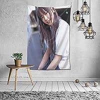 新垣結衣(Yuiaragaki) タペストリー 壁掛け壁画 壁掛け 装飾布 インテリア 窓 ウォールアート 布ポスター おしゃれ リラックス 機能 お部屋 和室 家 リビングルーム ベッドルーム 部屋 おしゃれ 152*102cm