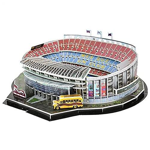 MAODEN Rompecabezas 3D Estadio de fútbol Europeo, Estadio de fútbol de Barcelona Camp NOU Juguetes para niños Rompecabezas Kit de construcción de Modelos Juguete DIY Regalo de cumpleaños de Navidad