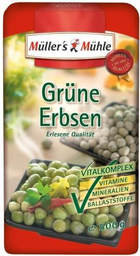 Müller's Mühle Grüne Erbsen, 7er Pack (7 x 500 g Packung)