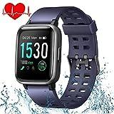 ONSON Smartwatch,Fitness Tracker Wasserdicht IP68 Fitness Armband Uhr für Damen Herren Kinder, Sportuhr mit Schrittzähler,Pulsuhr,1.3-Zoll Sportuhren für iOS Android Handy(Blau)