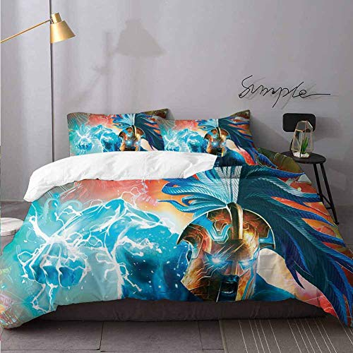 HunttyNan Kids Comforter Cover Spiderman Contest of Champions K J Decorative 3 Piece Bedding Set with 2 Pillow Shams Bedding 3 Piece Duvet Cover Set Full