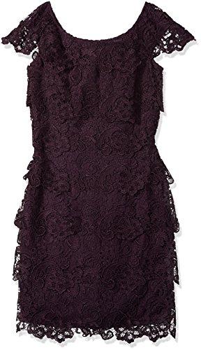 EMMA Street Damen Spitzenkleid, kurz, mit Flügelärmeln - Violett - 42