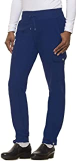HH360 by Healing Hands Nikki Textured Yoga Waistband Scrub Pant Navy