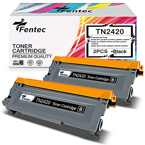 FENTEC Cartuchos de Tóner TN2420 TN2410 Compatibles para Brother TN-2420 TN-2410 para Brother MFC-L2710DN L2710DW L2730DW L2750DW HL-L2350DW L2310D L2375DW L2370DN DCP-L2510D L2530DW L2537DW L2550DW