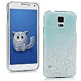 Beaulife Custodia per Samsung 9600 Silicone Custodia TPU Drop-Protezione Antiurto Telefono Painted Cover-Fiori