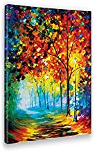 Giallobus - Schilderij - Afdrukken op Canvas - Leonid Afremov - Miststraat - 70 X 100 Cm