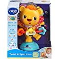 VTech Twist and Spin Lion, Baby Music Toy for Sensory Play, Educational Toys for Kids, Baby Interactive Toy with Lights and Songs, Musical Toy with Suction Cup, Suitable for Boys and Girls 6 Months + from Vtech
