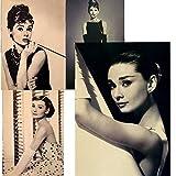 Poster Audrey Hepburn mit Motivationszitat Hollywood