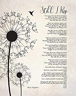 Rainbow Store Still I Rise Maya Angelou Poem Wall Art self Respect Quote Bedroom décor