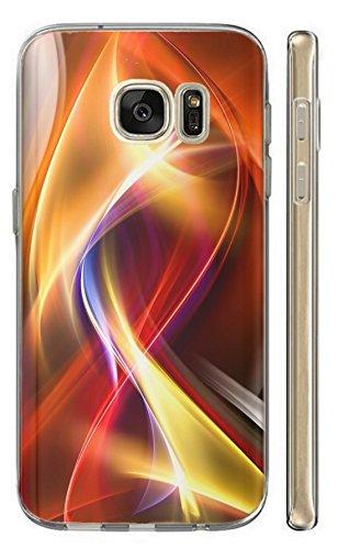 Hülle für Samsung Galaxy S4 Mini i9190 i9195 Hülle Softcase TPU Handyhülle für Samsung S4 Mini i9190 i9195 Cover Backkover Schutzhülle Slim Case (115 Abstract Gelb Rot Blau Orange)