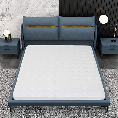Kono Small Double Mattress - 7.8 Inch Pocket Sprung Mattress - 4FT Memory Foam Mattress with Breathable Foam and Luxurious Jersey Knitted Fabric - Medium Firm Feel - 120cm x 190cm