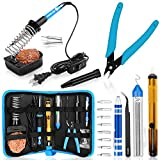 Soldering Kit, Soldering Iron, [Upgraded] Soldering Iron Kit 60w 110v Adjustable Temperature Welding