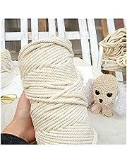 String 1-10mm beige katoen gedraaid koord touw macrame diy handgemaakte home textiel accessoires ambachtelijke macrame touw string bruiloft decoratie voor ambachten (Color : 10mmx50m)