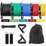 XQxiqi689sy Sport Fitness Fasce di Resistenza All'esercizio Yoga Allenamento Domestico Corde Elastiche per Tiro 11Pz / Set 11pcs / Set