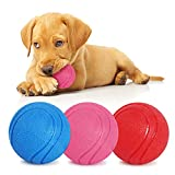 Pelota para Perros, Pelota de Caucho Natural para Perros, Pelota para Perro Indestructible Limpia Dientes, Juguete Interactivo Perro para Entrenamiento y Ejercicio