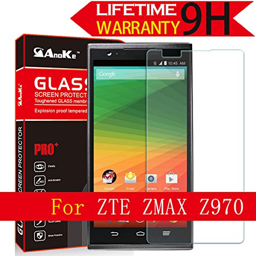 ZTE?Z?MAX?Glass?Screen?Protector,?(Z?MAX?Z970)[2Pack]?AnoKe(0.3mm?9H?2.5D)?Best?Tempered?Glass?Screen?Protector?Film?Shield?Guard?For?ZTE?ZMAX?5.7?Z970?Glass?2Pack?