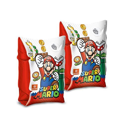 Mondo Toys - Super Mario Arm Bands - Braccioli di Sicurezza per bambini - Materiale PVC - Adatti a bambini da 2 a 6 anni con Peso 6-20 kg - 16872
