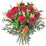 Ramo Sant Jordi, 12 Rosas Rojas Naturales Frescas + PANICULATA Y ESPIGAS!! Especial Sant Jordi Envio DE Flores A Domicilio.