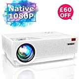 Projector, WiMiUS 6800 Lumen 1920x 1080P Native Full HD Video Projector, ±50° 4D
