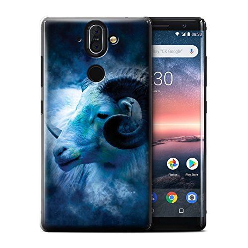 Stuff4 telefoonhoesje/hoes voor Nokia 8 Sirocco 2018/Aries/Ram Design/Zodiac Star Sign Collection