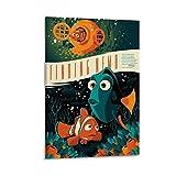 jiaobaba Findet Nemo-Mondo-Poster auf Leinwand,