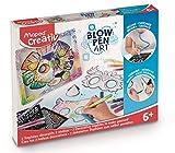 Maped- Creativ Blowpen Art – Rotuladores aerográficos – 2 Trofeos Decorativos para Realizar – Combina y Decorar – Kit de Manualidades para niños a Partir de 6 años (846713)