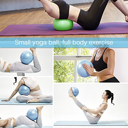 2 Mini Exercise Balls - 9 Inch Small Bender Ball for Stability, Barre, Pilates, Yoga, Core Training and Physical Therapy