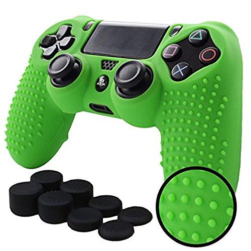 PS4 Funda Texturizada Compatible Con PlayStation 4 (Verde)