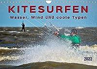 Kitesurfen - Wasser, Wind und coole Typen (Wandkalender 2022 DIN A4 quer): Kitesurfing, ultimativer Funsport mit vielen begeisterten Anhaengern. (Monatskalender, 14 Seiten )
