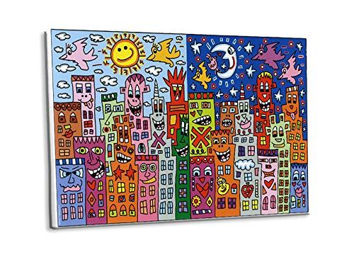 Kunstdruck Day or Night - My City is Bright Tag Nacht Poster Rizzi Platte 55