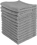 Utopia Towels - Juego de Toallas Premium (30 x 30 cm, Gris) 600 gsm 100%...