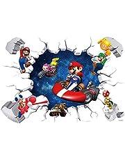 Super Mario Wallpaper Theme: Mario Stickers Muursticker Mario Broken Muursticker Muurschildering