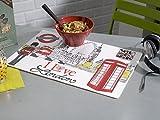 CALITEX I Love London Tischset PVC weiß 44x 28cm