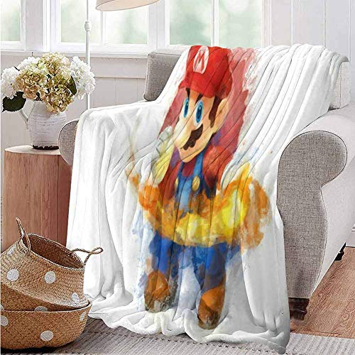 Housedecor Coperte Super Mario Brothers Confortevole e Caldo, Poliestere, Motivo02, 70'x60'(180cmx150cm)