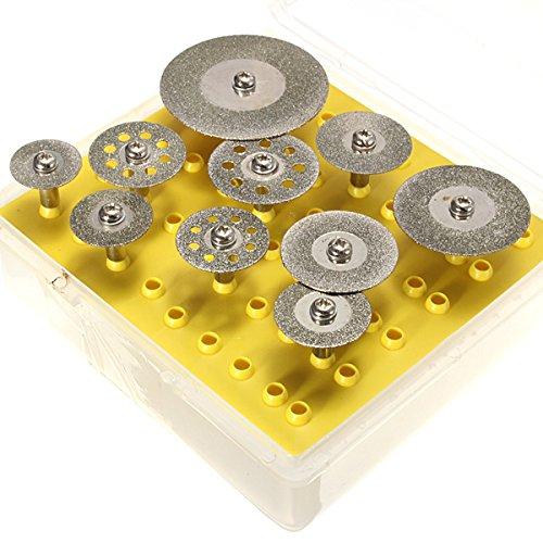 ILS - 10 stuks diamantschijven snijden wielenset Dremel gereedschap Rotatief