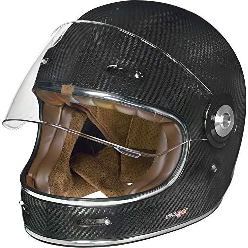 RT-825 Carbon Integralhelm Motorradhelm Chopper Integral Retro Helm rueger, Größe:S (55-56), Farbe:Carbon