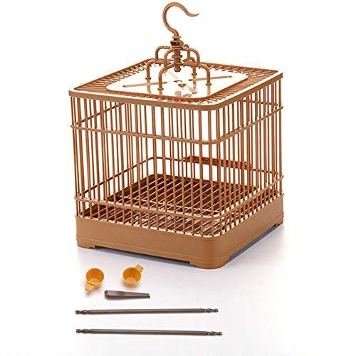 Gabbia per l\'alimentazione degli uccelli Trasportino per uccelli Traspirante Gabbia per viaggi dei pappagalli per uccelli di piccole dimensioni Quadrato leggero e portatile